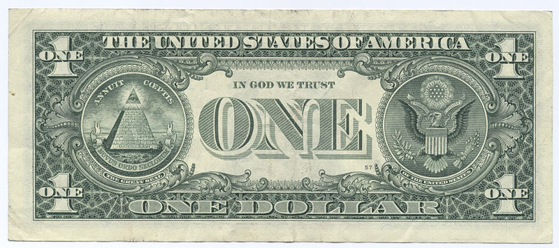 The number 13 and the one dollar bill