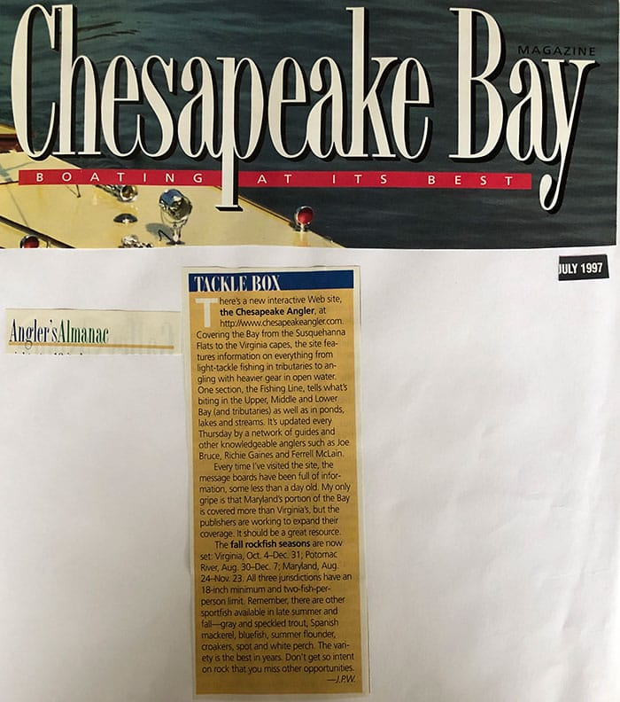 How to get press coverage for your business Build a Business by Brandon C White Chesapeake Bay Magazine Press Coverage Chesapeake Angler
