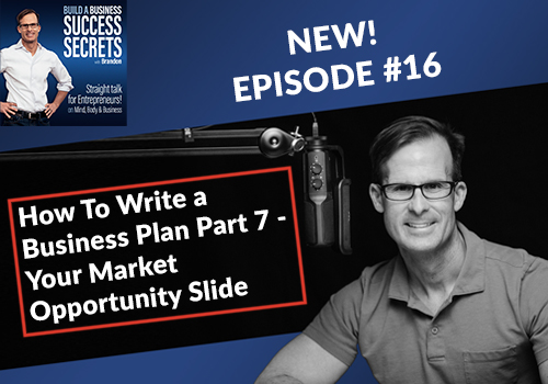 How To Write a Business Plan Part 7 - Your Market Opportunity Slide: NEW! Business Podcast